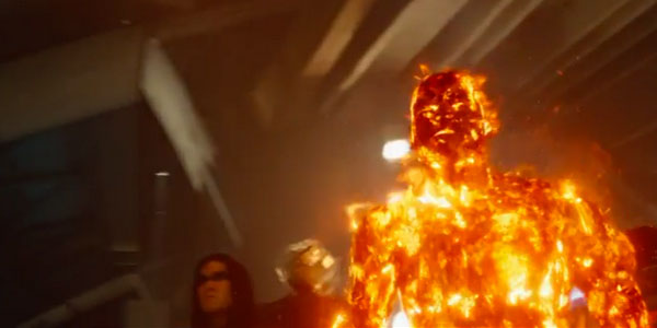 Err. Why am I in flames? I am supposed to be a human solar battery with super strength now burning in flames! |Screen from |20th Century Fox |Whatculture.com