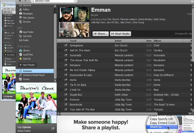 Just  created a playlist.